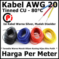 Kabel AWG 20 Tinned CU AWG20 Up To 80 Celcius Per Meter