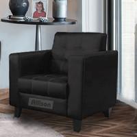 Allison Vintage Sofa Minimalis 1 Dudukan atau 1 Seater - Hitam