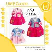 Korean Hanbok - Baju Adat Tradisional Korea Anak Perempuan 1-15 Tahun - 1