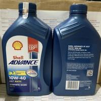 SHELL ADVANCE AX7 MATIC 1L 10W/40 100% ASLI YA