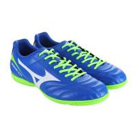 Sepatu futsal mizuno original monarcida 2 Fs in wide biru hijau
