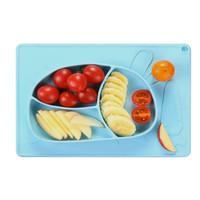 [Kiky Project] Piring Makan Silikon Anak Plate Matt Silicone Baby Bayi