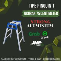 Tangga Lipat Aluminium 75 Centimeter - Merk Strong // Instant & Cargo