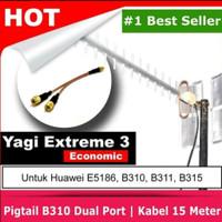 Yagi antena outdoor buat modem router GSM 4G - 15 meter SMA Male