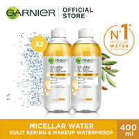 Garnier Micellar Water Biphase 400ml (Twin Pack)