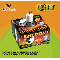 "Exoterra Aluminium Light Dome 7"" 75w / Exo Terra Fiting Lampu UVB"