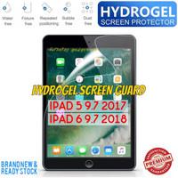 iPad 5 6 9.7 5th 6th Gen 2017 2018 Hydrogel Screenguard Anti Gores Ori - Clear