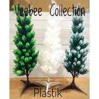 Pohon natal plastik 60cm/ christmas tree 60cm/ Pohon terang plastik