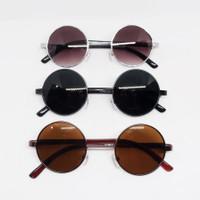Kacamata Hitam Bulat Boboho John Lennon Black Sunglasses