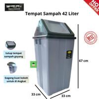 KOMET : TEMPAT SAMPAH / DUSTBIN / KERANJANG SAMPAH + TUTUP 42 LITER