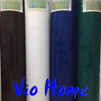 fiber viber plastik penutup pagar bambu bamboo harga per 50cm x 1m