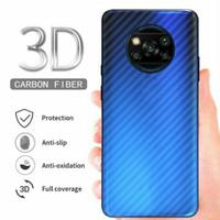 carbon fiber screen guard antigores BELAKANG POCOPHONE POCO X3 NFC