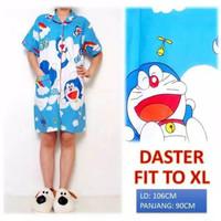 Piyama Daster Wanita Dewasa motif kartun_Size L fit to XL - doraemon awan, all size