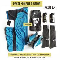 paket hemat6 sepatu sepakbola anak junior kecil mercurial new termurah - 33