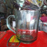 Gelas Kaca gagang / Gelas Kopi / Gelas beling gagang / Gelas Minum