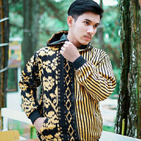 jaket pria batik bolak balik + free masker