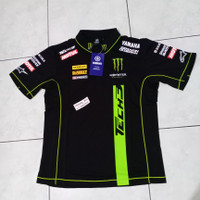 Baju Polo Shirt MotoGP Monster Yamaha Tech3 2015 ori DESCENTE size L