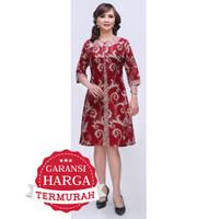 Dress Terusan Tunik Baju Seragam Wanita Batik 2885