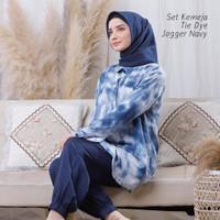 Pajamas Set / Piyama One Set Kemeja Tie Dye Jogger