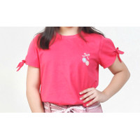Baju Atasan Kaos Tshirt Oblong Anak Perempuan Lengan Pendek katun