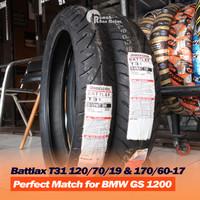 Paket BRIDGESTONE Battlax T 31 T31 120/70-19 & 170/60-17 Ban BMW GS
