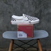 Sepatu Vans Slip On OG Checkerboard Off Black White ORI Premium BNIB