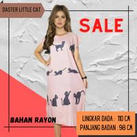 Fashion Baju Daster Tidur Remaja Wanita Perempuan Midi Little Cat