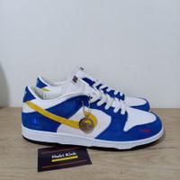 Sepatu Nike SB Dunk Low Pro White Blue Navy Yellow