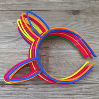 HB52 - BANDO KELINCI PLASTIK WARNA WARNI anak balita toddler headband