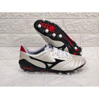 Sepatu Bola MIZUNO MORELIA NEO II PEARL WHITE/BLACK MD Replika Impor