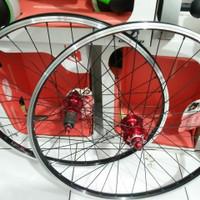 Wheelset wheel velg set sepeda 26 x 1.50 araya freehub hub Speed 32h