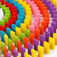 Mainan Edukasi Balok Susun Domino Kayu
