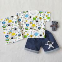 Setelan Baju Bayi Cowok Astronot 1Tahun dan 6Bulan Premium