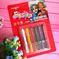 Mingda Freshen Face Painting 12 / Crayon Wajah - Aman Untuk Anak Anak - 6 pcs