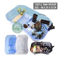 Turtle Tank Medium 40 x 24 x 13 cm/ Aquarium Box Ember Tempat Kura Air