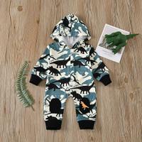Romper dinosaurus buat bayi - baju bayi model hoodie
