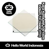 Kaca Konduktif Indium Tin Oxide (ITO) 10cm x 10cm