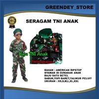 BAJU SERAGAM TNI ANAK / KOSTUM ANAK / BAJU SERAGAM TNI ANAK TENTARA