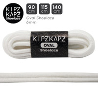 WHITE 115cm 140cm Oval Shoelace Tali Sepatu Olahraga Putih KipzKapz