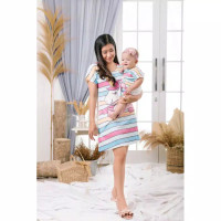 Character Pajamas Dress Couple Mom & Kid / Daster Piyama Jersey Scuba
