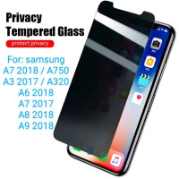 Samsung A3 A6 A7 A8 A9 2018 Antigores Tempered Glass Spy TG privacy