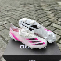 Sepatu Bola Adidas Ghosted.1 White Pink Black FG