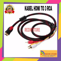 HDMI Male To 3 RCA Adapter Video Audio AV Cable VGA for TV HDTV DVD