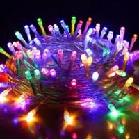 Lampu Natal LED Tumbler 10 Meter Warna Warni Rainbow 8 Mode Hias