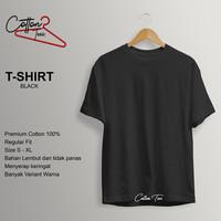 Kaos Polos Baju Pria Kaos Pria Premium Cotton Kaos Lengan Pendek BLACK