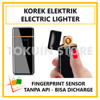 Korek Api Elektrik USB Fingerprint Touch LED Electric Lighter Unik