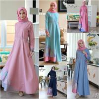 Baju Gamis Wanita Terbaru / Dress Toyobo mix Batik M - XXL JUMBO