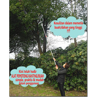 Tree Pruner Galah Tongkat Pemotong Gergaji Gunting Dahan Ranting Tarik