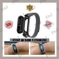 STRAP MI BAND 4 STAINLESS STEEL MODEL RANTAI TALI JAM MIBAND 4