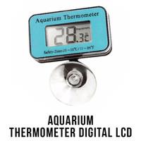 Aquarium Thermometer Digital LCD Termometer Pengukur Suhu Air Akuarium